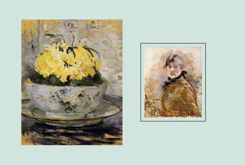 The two images block pattern has two horizontally placed images. The images have different sizes and one image has a frame.